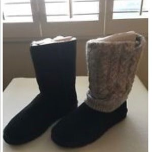 Black UGGS boots
